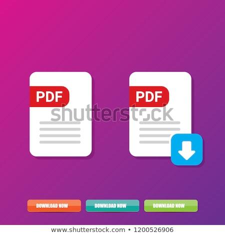 Pdf скачать фиолетовый вектора икона дизайна Сток-фото © rizwanali3d