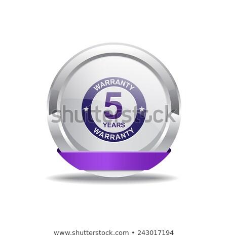 Rok gwarancja fioletowy wektora ikona projektu Zdjęcia stock © rizwanali3d