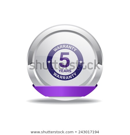 5 Years Warranty Violet Vector Icon Design Stock photo © rizwanali3d