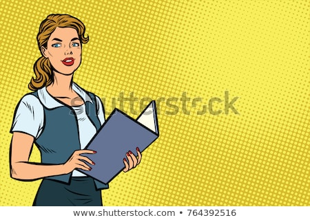 Stock photo: businesswoman retro secretary office vintage