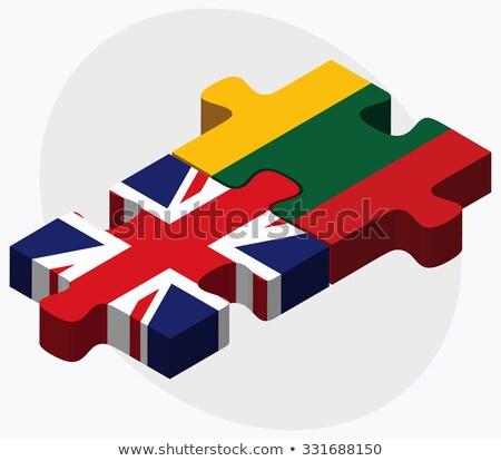 Великобритания Литва флагами головоломки изолированный белый Сток-фото © Istanbul2009