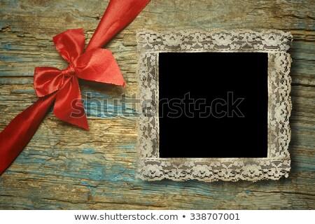 christmas one instant empty photo frames stock photo © marimorena
