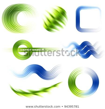 Сток-фото: новых · коллекция · синий · вектора · икона · дизайна