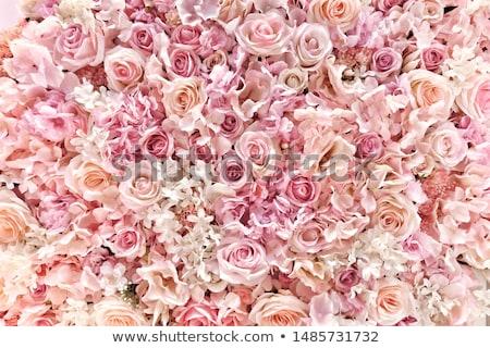 ramo · rosa · flores · jarrón · vintage · decoración - foto stock © manera