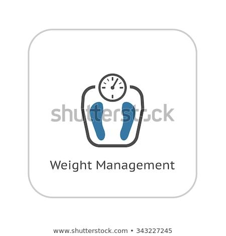 Ağırlık yönetim ikon dizayn yalıtılmış örnek Stok fotoğraf © WaD
