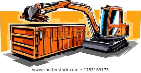 Lavoro escavatore design neve terra inverno Foto d'archivio © Paha_L