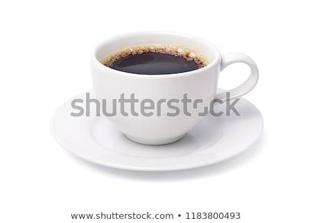 белый · Кубок · горячий · напиток · древесины · стекла - Сток-фото © shutswis