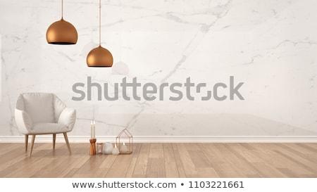エレガントな · ライト · 6 · 絞首刑 · ルーム · 木製 - ストックフォト © jrstock