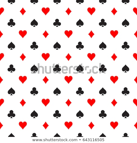 Seamless pattern with poker cards symbols Stock photo © liliwhite