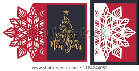 Сток-фото: Vintage Christmas Card With Ornate Elegant Retro Abstract Floral