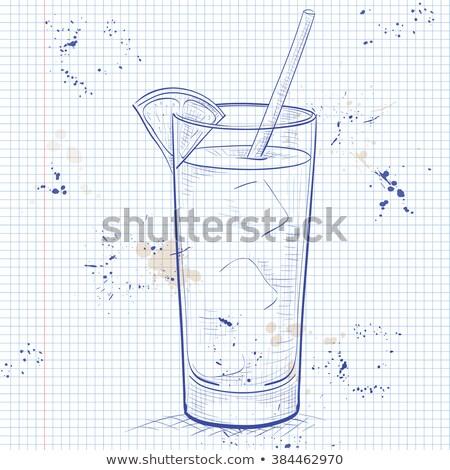 śrubokręt koktajl notebooka strona wódki sok pomarańczowy Zdjęcia stock © netkov1