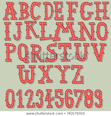 renkli · el · alfabe · dizayn · boya · yeşil - stok fotoğraf © voysla
