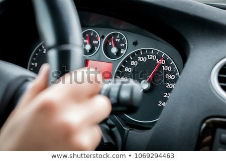 Autó száguld korlát illusztráció izolált fehér Stock fotó © romvo