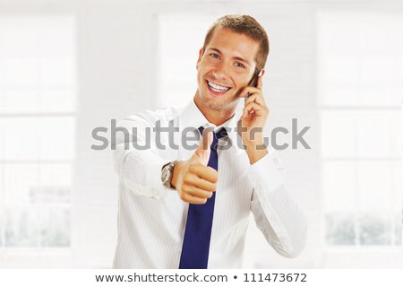 happy young business man making the ok  hand sign Stock photo © feedough