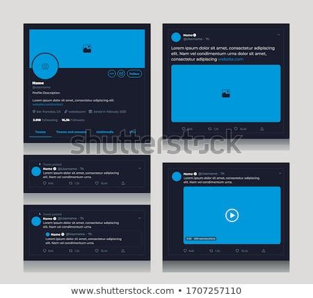 tweet · cellulare · alto · grafica · telefono - foto d'archivio © make