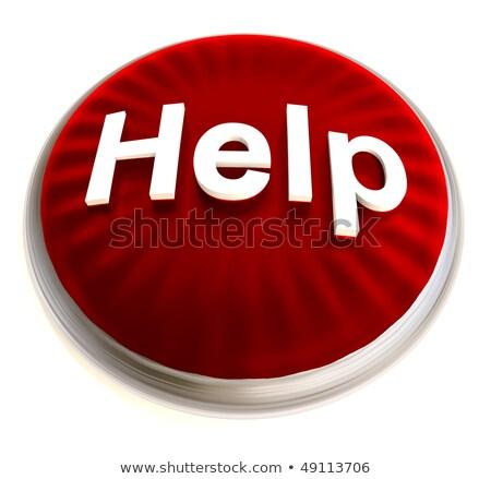 czerwony · pomoc · przycisk · srebrny · jasne · metal - zdjęcia stock © nicemonkey