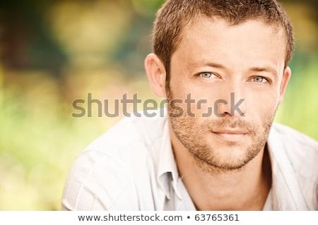 Retrato muscular masculino hombre naturaleza sexy Foto stock © zurijeta