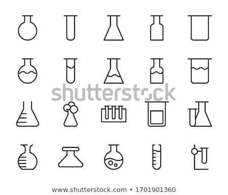 Laboratory flask icon , Flat design style, vector illustration.  stock photo © jabkitticha