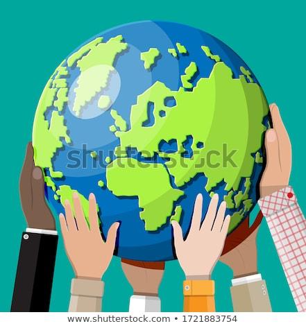 Emberi együtt egyenlőség négy 3D betűk Stock fotó © make