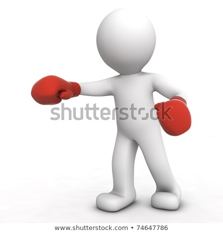 3d small people   boxer the champion stock photo © anatolym