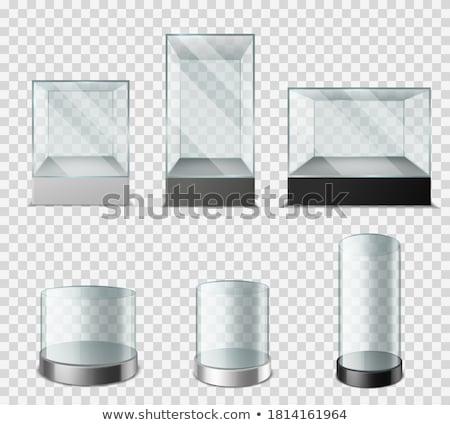 Empty glass cylinder for exhibit Stock photo © cherezoff