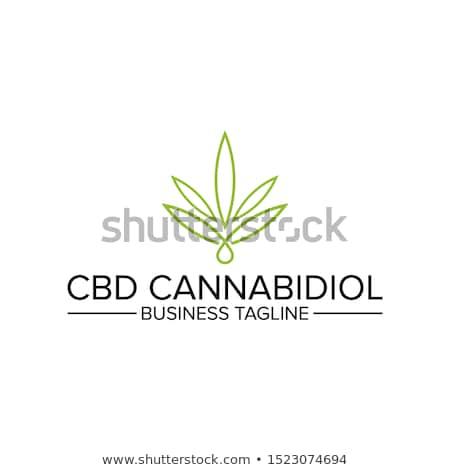 зеленый марихуаны конопля лист символ Сток-фото © Zuzuan