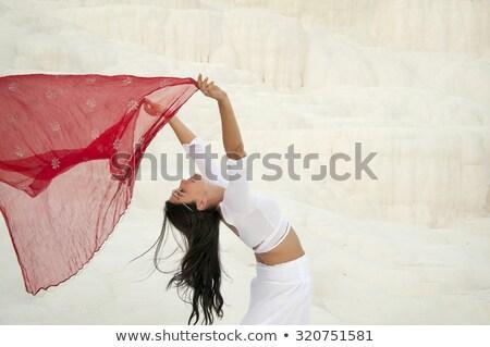 Stok fotoğraf: Kadın · sarı · Mısır · stil · yalıtılmış · beyaz