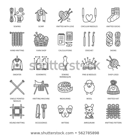 Sewing pattern icon Stock photo © angelp