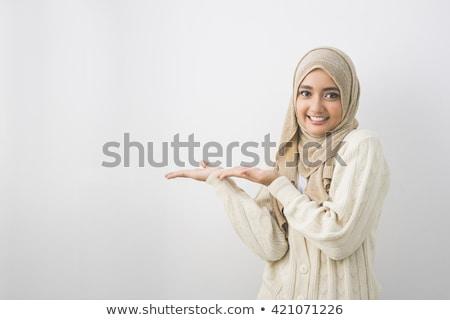 iráni · nő · gyönyörű · karcsú · fekete · ruha · lány - stock fotó © zurijeta