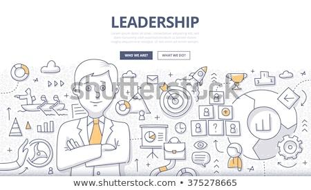 Stock fotó: Nyerő · stratégia · üzlet · firka · terv · stílus