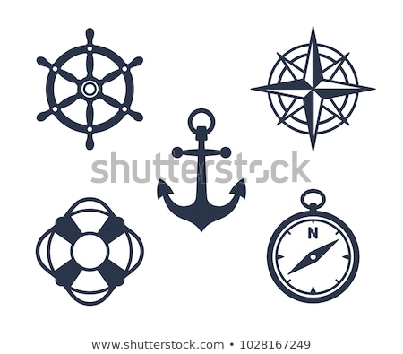 Simple silhouette of a ships wheel Stock photo © adrian_n