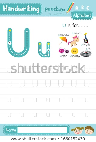 Flashcard letter U is for unhappy Stock photo © bluering