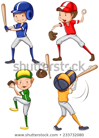 A plain sketch of a male baseball player Stock photo © bluering