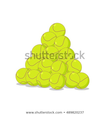 Pile of tennis balls. Many tennis ball. Sports accessory Stock photo © MaryValery
