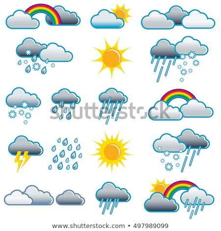 Icons with the different weather conditions Stock photo © bluering