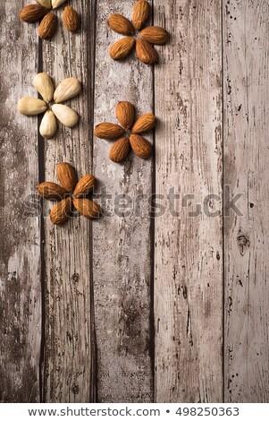 virágmintás · dekoráció · öt · mandulák · egy · felső - stock fotó © faustalavagna