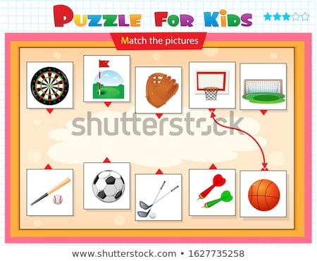 баскетбол · дети · иллюстрация · играть · спорт · команда - Сток-фото © bluering