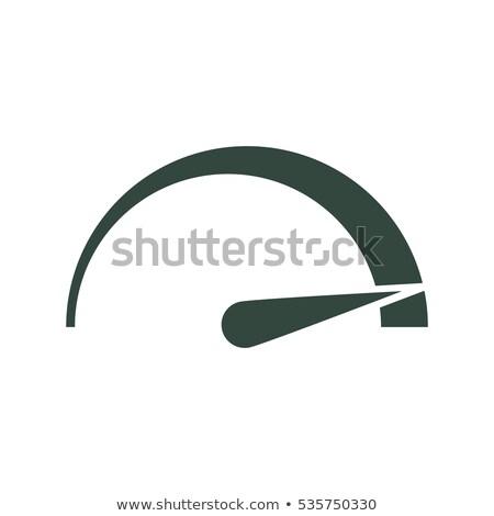 Tachometer, speedometer, indicator icon. Flat icon, vector illustration Stock photo © Said