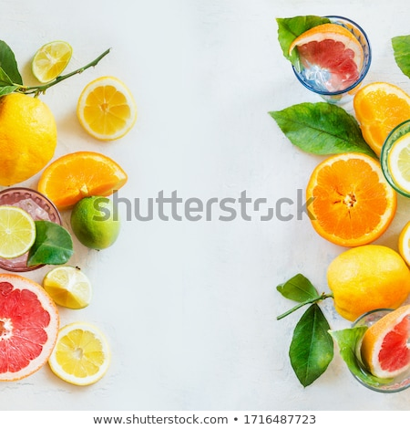 Full frame of fresh whole grapefruits Stock photo © ozgur