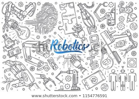 gyűjtemény · firka · robotok · elemek · technológia · háttér - stock fotó © morrmota