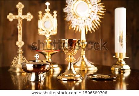 Szent kereszt szent terv Jézus óceán Stock fotó © sdCrea