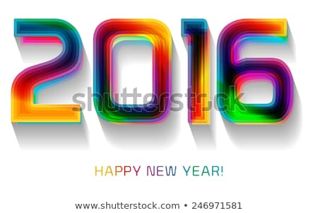 shiny colorful 2016 calender Stock photo © SArts