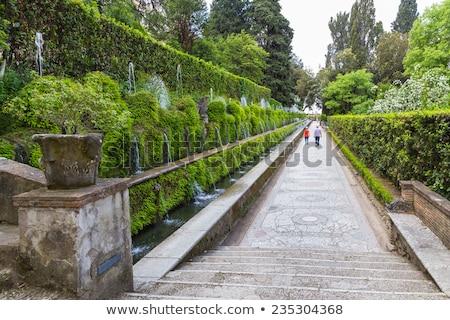 Villa vista naturaleza belleza arte cascada Foto stock © m_pavlov