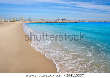 Pinedo beach in Valencia Spain Mediterranean Stock photo © lunamarina