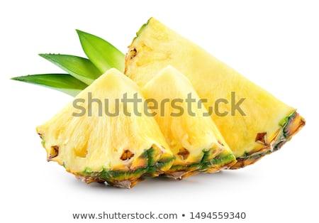 Ananász szeletel vágódeszka étel háttér citromsárga Stock fotó © racoolstudio