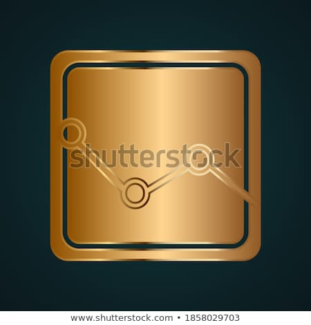 Bankruptcy chart icon on dark background Stock photo © Imaagio