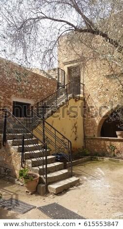 Mosteiro pedra primavera arquitetura ilha túnel Foto stock © tuulijumala