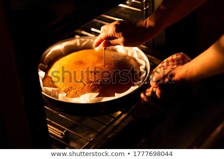 El kek beyaz kadın Stok fotoğraf © punsayaporn