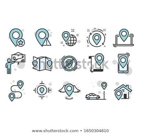 ocation pointer icon Stock photo © oblachko