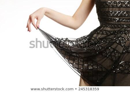 Beautiful girl in lace silk dress Stock photo © svetography